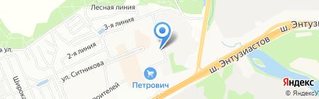 Новое Измайлово на карте Балашихи