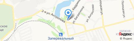Водолей на карте Донецка