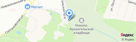 Николо-Архангельское кладбище на карте Балашихи