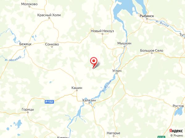 деревня Мелехово на карте
