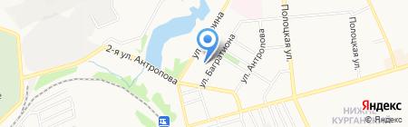 Золотой левъ на карте Донецка