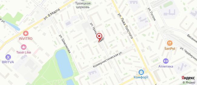 Карта расположения пункта доставки Люберцы Урицкого в городе Люберцы