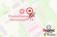 Схема проезда до компании Психиатрическая больница №19 в Красном Пути