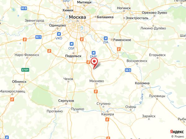 микрорайон Барыбино на карте