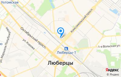 Местоположение на карте пункта техосмотра по адресу Московская обл, г Люберцы, ул Инициативная, д 3Б