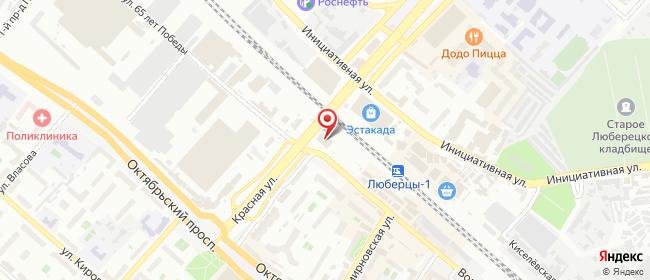 Карта расположения пункта доставки Люберцы Волковская в городе Люберцы