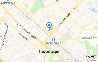 Местоположение на карте пункта техосмотра по адресу Московская обл, г Люберцы, ул Инициативная, д 1А