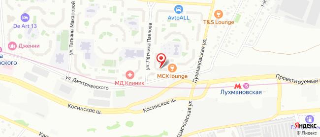 Карта расположения пункта доставки Москва Дмитриевского в городе Москва
