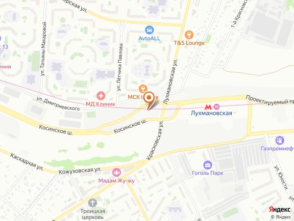 Остановка «Метро Лухмановская», Косинское шоссе (1008784) (Москва)