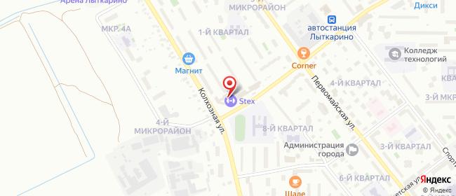Карта расположения пункта доставки Лыткарино Пятый в городе Лыткарино