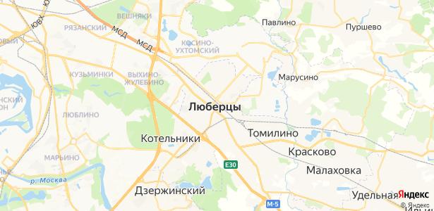 Люберцы на карте