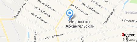 Никольско-Архангельский на карте Балашихи