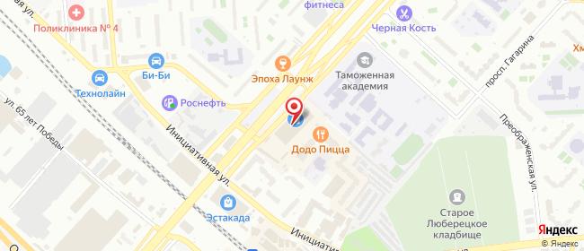 Карта расположения пункта доставки Люберцы Инициативная в городе Люберцы