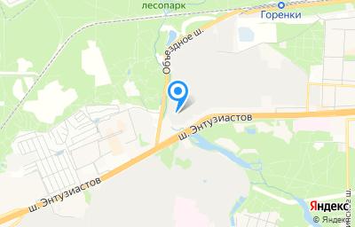 Местоположение на карте пункта техосмотра по адресу Московская обл, г Балашиха, тер Западная промзона, ш Энтузиастов, д 2