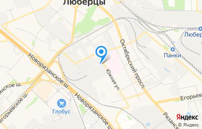 Местоположение на карте пункта техосмотра по адресу Московская обл, г Люберцы, проезд Котельнический, д 14А