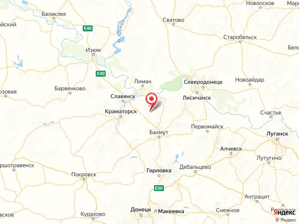 село Никифоровка на карте