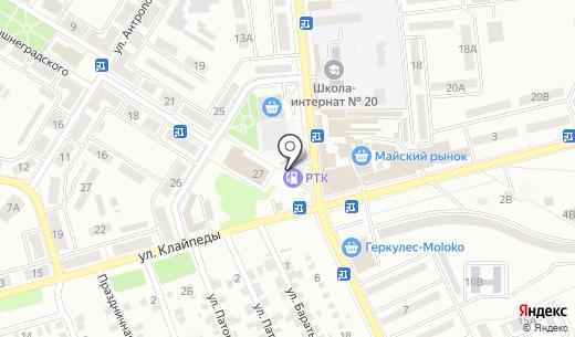 Параллель. Схема проезда в Донецке