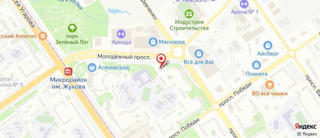 Карта расположения пункта доставки СИТИЛИНК в городе Старый Оскол