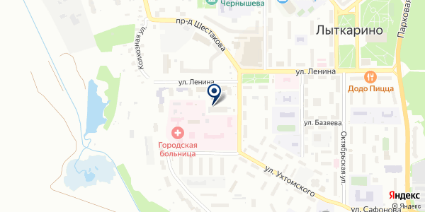 Сеть Клиник доктора Лемберга на карте Лыткарино