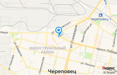 Местоположение на карте пункта техосмотра по адресу Вологодская обл, г Череповец, пр-кт Победы, д 10А