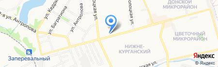 Рублевка на карте Донецка