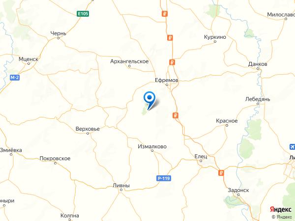 деревня Барсуково на карте