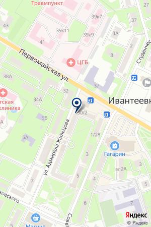 ПАРИКМАХЕРСКАЯ ОРХИДЕЯ на карте Ивантеевки