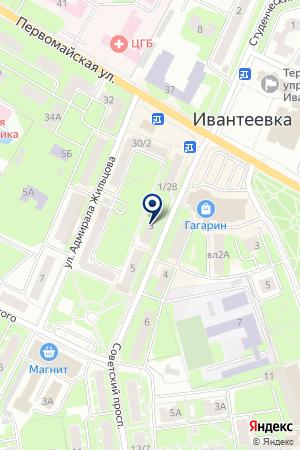 МАГАЗИН АВТОЗАПЧАСТЕЙ ТРОИЦКИЙ М.В. на карте Ивантеевки