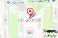 Схема проезда до компании Лыткаринское Управление Министерства социальной защиты населения Московской области в Лыткарино