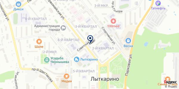 Зоомаркет на карте Лыткарино