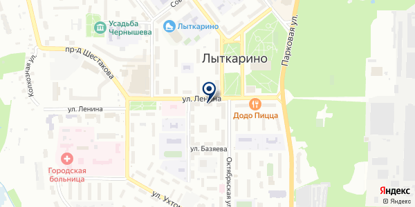 Клео на карте Лыткарино