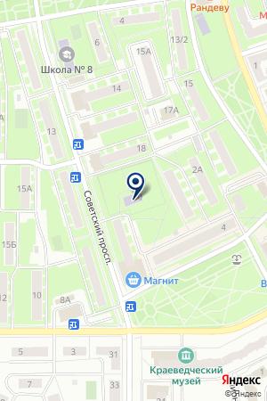 КОМПЕНСИРУЮЩЕГО ВИДА ДЕТСКИЙ САД ГНОМИК на карте Ивантеевки