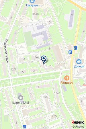 ГОСТИНИЦА КОМПАС на карте Ивантеевки