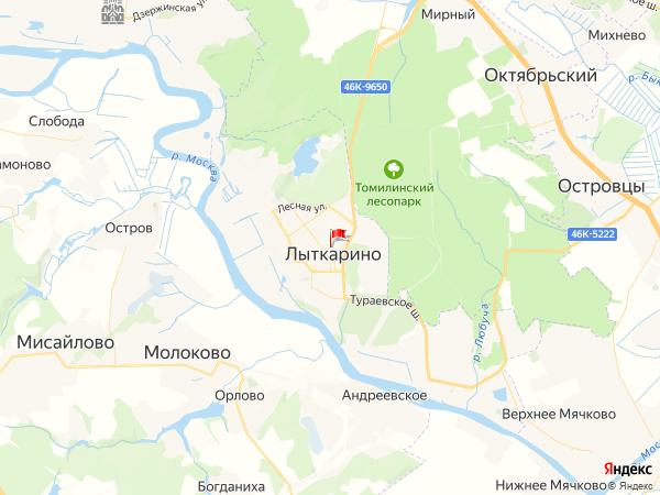 Карта город Лыткарино