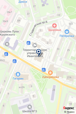 ТФ STANLEY на карте Ивантеевки