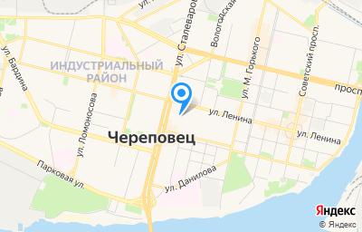 Местоположение на карте пункта техосмотра по адресу Вологодская обл, г Череповец, ул Сталеваров, д 44 стр 1, пом 7