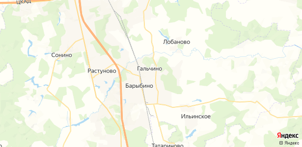 Гальчино на карте