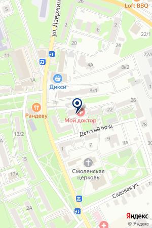 ОБЩЕЖИТИЕ № 1 ИВАНТЕЕВСКАЯ ТОНКОСУКОННАЯ ФАБРИКА на карте Ивантеевки