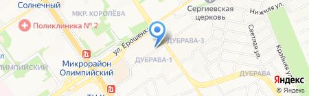 Хрусталь Белогорья на карте Старого Оскола
