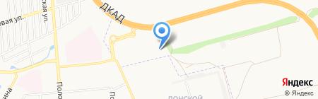 Блинная на карте Донецка