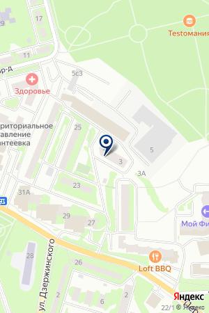 АВТОТЕХЦЕНТР АВТОГАРАНТСЕРВИС на карте Ивантеевки
