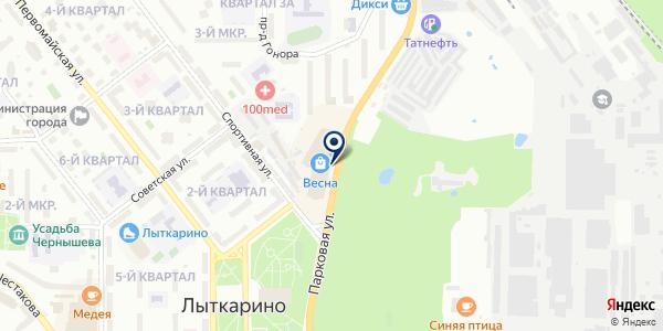 ЮНИСТРИМ на карте Лыткарино