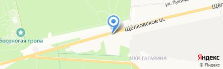 Магазин хлебобулочных изделий на ул. микрорайон Гагарина на карте Балашихи