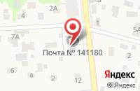 Схема проезда до компании Почтовое отделение №141180 в Загорянском
