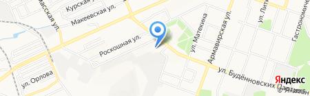 Схід траст на карте Донецка