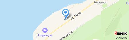 Приморский на карте Геленджика