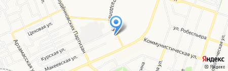 Корчма на карте Донецка