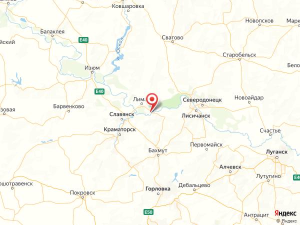 село Озёрное на карте