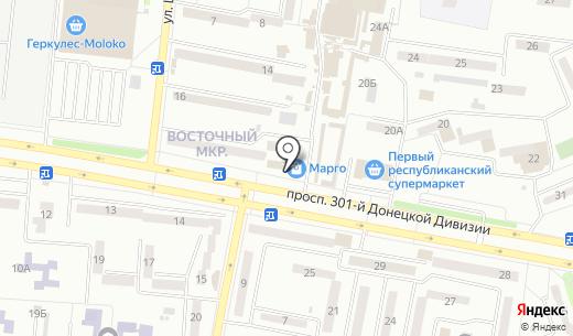 INTER`ER VAV. Схема проезда в Донецке