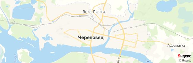 Череповец на карте